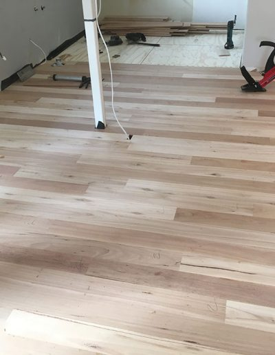 Newly laid kitchen floor